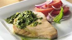 Tuna with Three-Herb Pesto Recipe