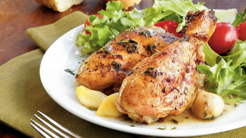 Slow Cooker Garlic Chicken