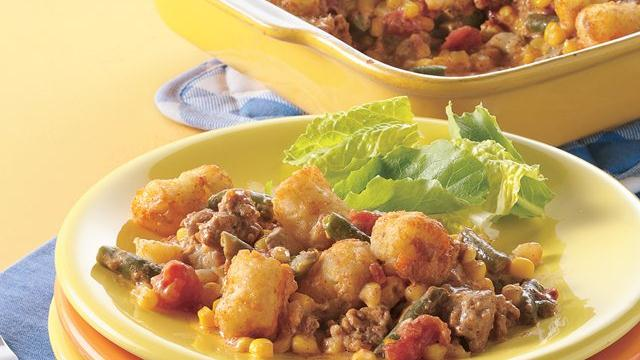 Southwestern Turkey-Tater Casserole