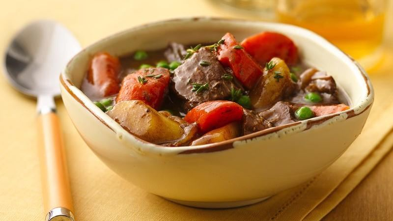 Slow-Cooker Caramelized Onion Beef Stew