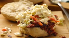 Grilled Biscuit BBQ Pork with Coleslaw Recipe