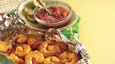 Chili Shrimp with Honey Salsa Recipe