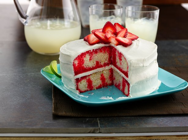 Strawberry-Lime Daiquiri Poke Cake