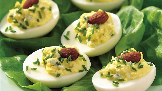 Blue Cheese-Stuffed Eggs