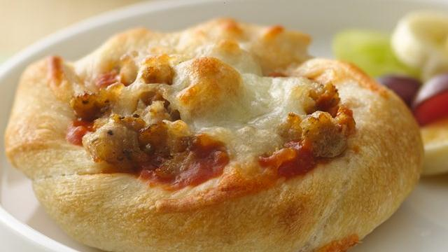 Individual Sausage-Breadstick Pizzas