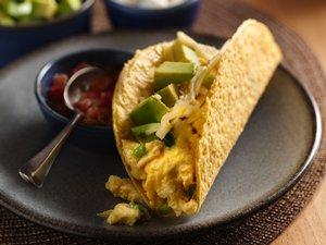 Cheesy Egg Breakfast Tacos