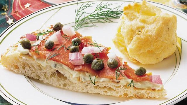 Smoked Salmon and Caper Pizza