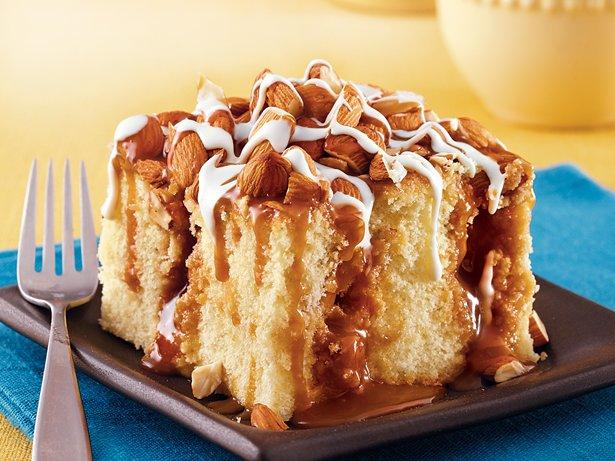 Caramel Almond Poke Cake Recipe From Betty Crocker