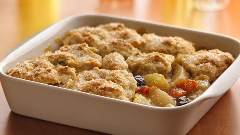 Harvest Fruit Compote Cobbler