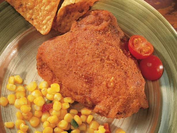 Microwave Chili-Coated Chicken