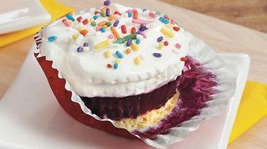 Lemon Blueberry Ice Cream Cupcakes