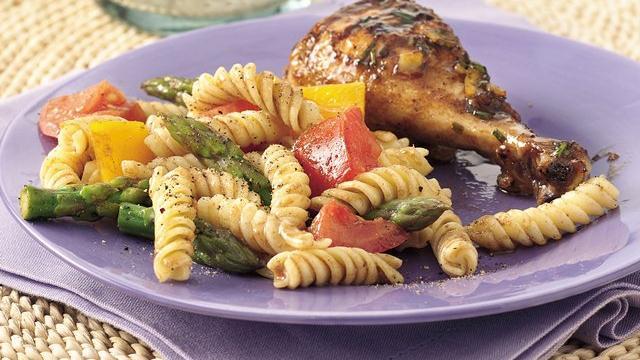 Image of Asparagus And Tomato Pasta Salad, Pillsbury