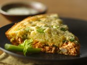 Impossibly Easy Buffalo Chicken Pie