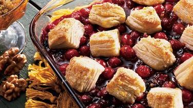 Cranberry-Blueberry Cobbler