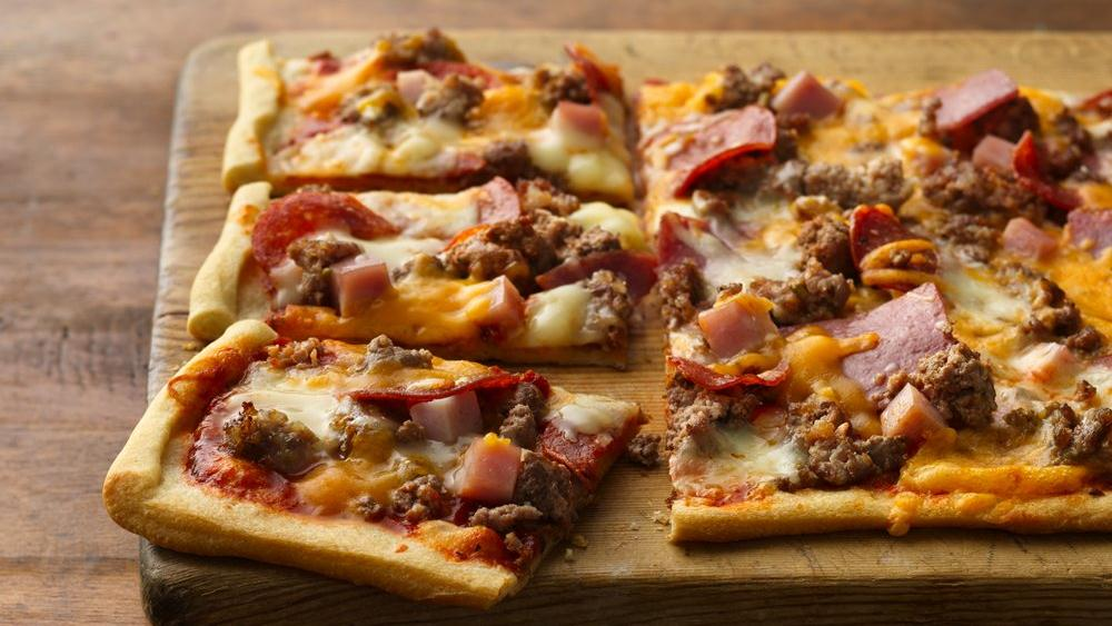 Mega-Meat Pizza