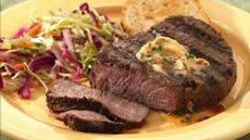 Tenderloin Steaks with Chive 'n Bacon Butter Recipe