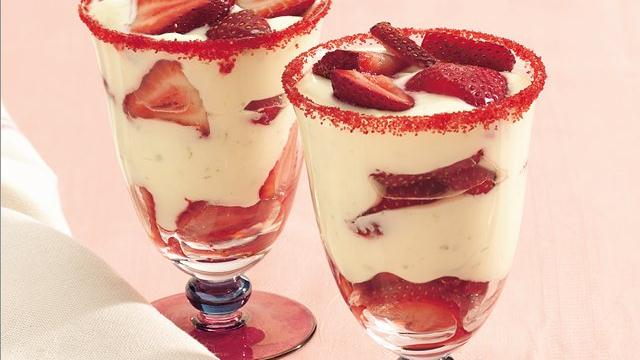Strawberry Margarita Parfaits
