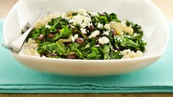 Gluten Free Black Beans and Kale with Feta Cheese