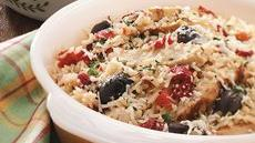 Zesty Chicken and Rice Casserole with Roasted Red Peppers Recipe