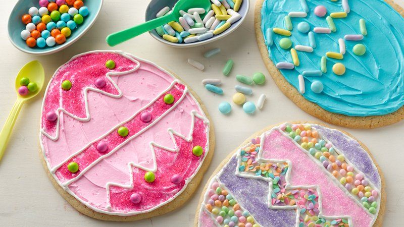 Decorate It Yourself (DIY) Easter Egg Cookies