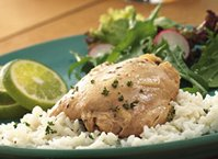 Slow Cooker Lime Garlic Chicken with Rice