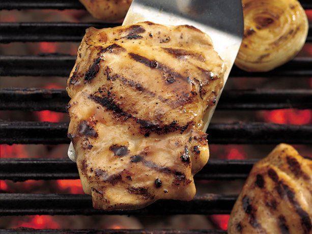 Image of Apricot Glazed Grilled Bbq Chicken Thighs, Betty Crocker