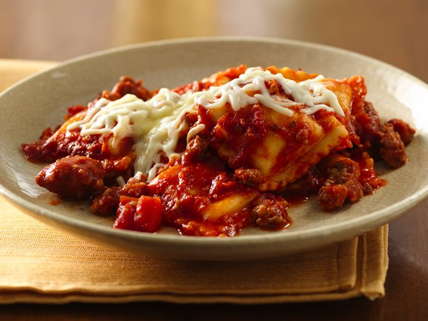 Do-Ahead Ravioli Sausage Lasagna