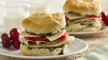 Turkey Pesto Sandwiches for Two