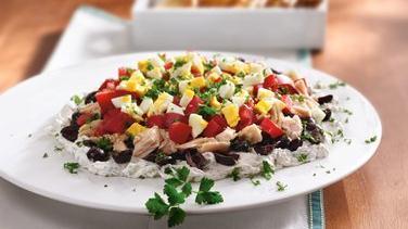 Layered Mediterranean Tuna Spread