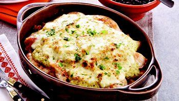 Chicken Cutlets with Green Chile Sauce