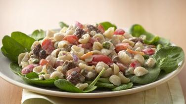 Creamy Black and Blue Pasta Salad
