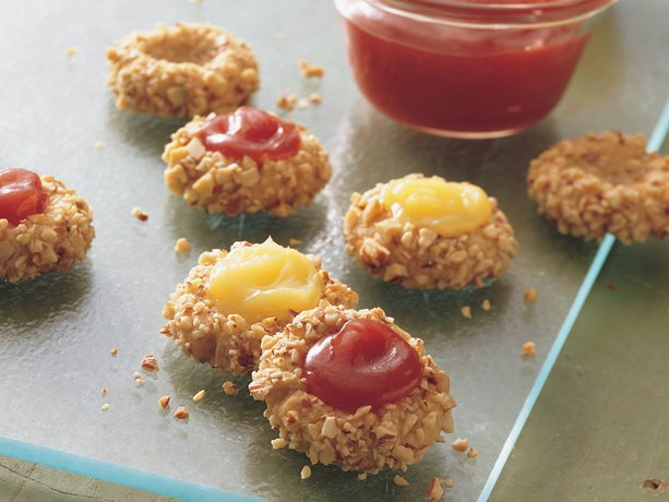 Image of Almond Thumbprint Cookies, Betty Crocker