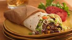 Black Bean and Corn Barbecue Wraps Recipe
