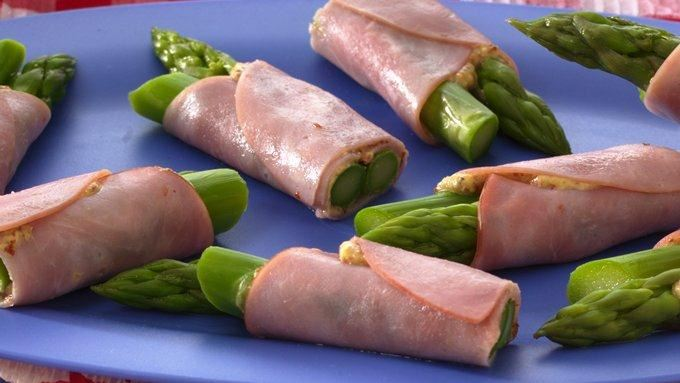 Ham and Asparagus Wraps