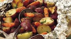 Grilled Parmesan Potatoes and Carrots Recipe
