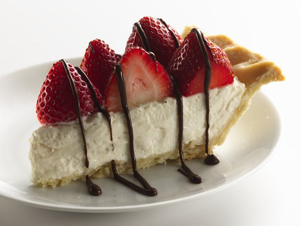 Healthified Strawberries and Cream Pie