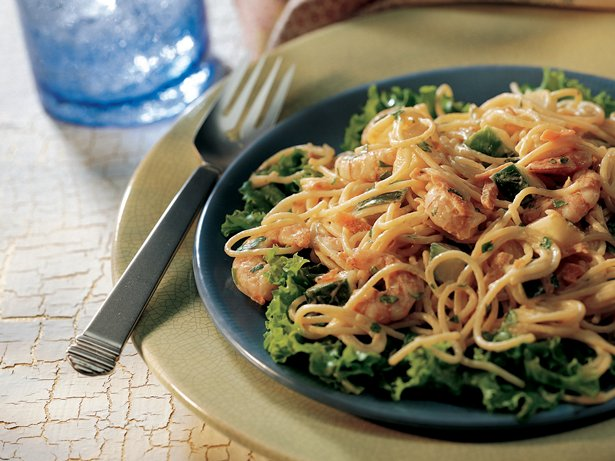 Shrimp Pasta Salad with Ginger Dressing