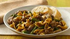 Green Bean and Beef Pasta Supper Recipe