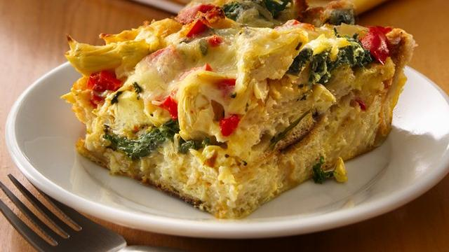 Image of Artichoke-spinach Strata, Pillsbury