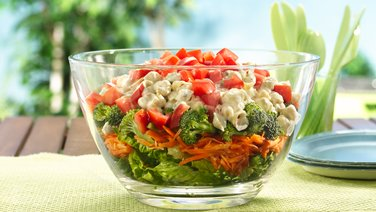 Layered Summer Pasta Salad
