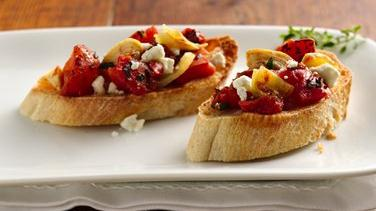 Tomato-Artichoke Bruschetta with Feta