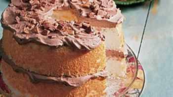 Low-Fat Candy Bar Angel Cake