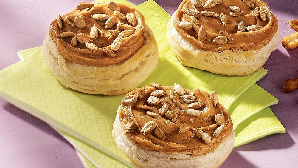 Honey-Peanut Butter Biscuits recipe from Pillsbury.com