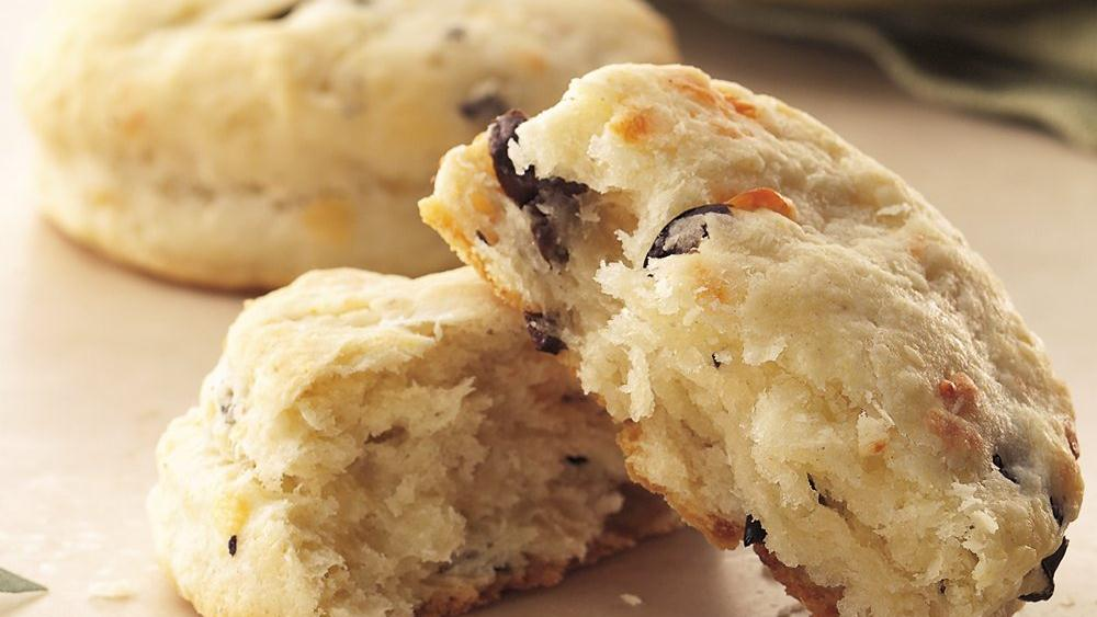 Provolone and Olive Biscuits recipe from Pillsbury.com