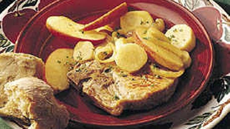 Pork with Apple and Parsnips
