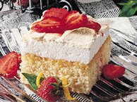 Lemon Meringue Cake with Strawberries