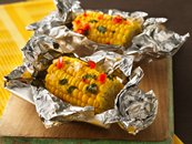 Grilled Corn Nibblers with Lime Butter