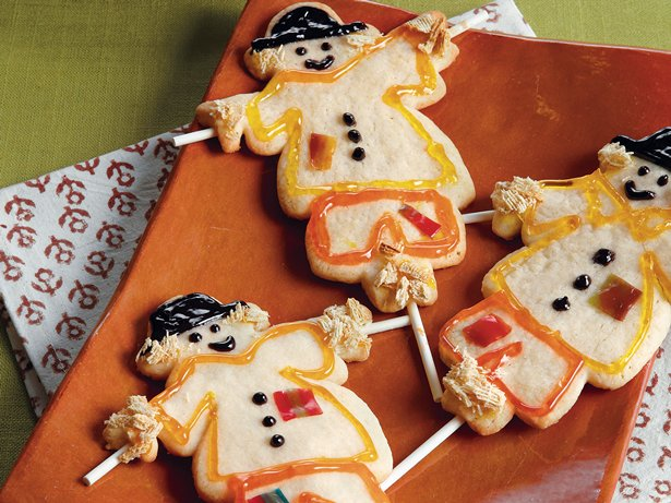 Scarecrow Sugar Cookies