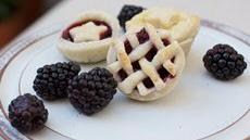 Mini Blackberry-Raspberry Pies Recipe
