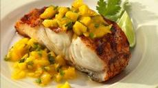 Grilled Halibut with Mango Sauce Recipe